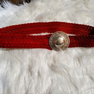 Vintage Handmade Moroccan belt with silver buckle
